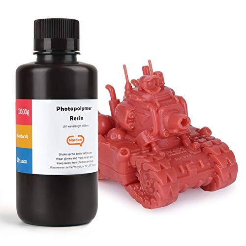 ELEGOO LCD UV 405nm Resina Rapida per Stampante 3D LCD 1000g Resina Fotopolimerica Marrone