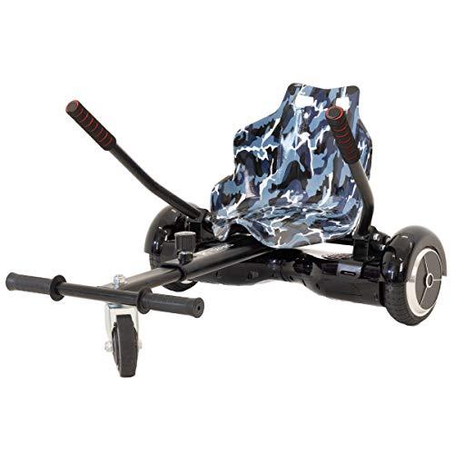 iRollers Fast Camo Black Racer Hoverkart Gokart ajustable para Smart Self Balance Heavy Duty Frame Scooter de 6.5 pulgadas, 8 pulgadas y 10 pulgadas