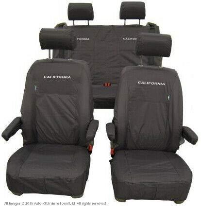Inka - Fundas de asiento delantero impermeables a medida para Volkswagen VW California Ocean T6.1, T6 y T5 y MY a partir de 2014