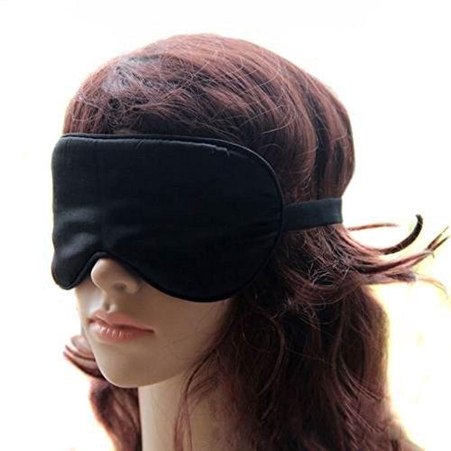 Milanao Premium Hypoallergen Sleep Maske 100% Pure Silk Eye Cover für Herren und Damen, schwarz (Schwarz) - A37812