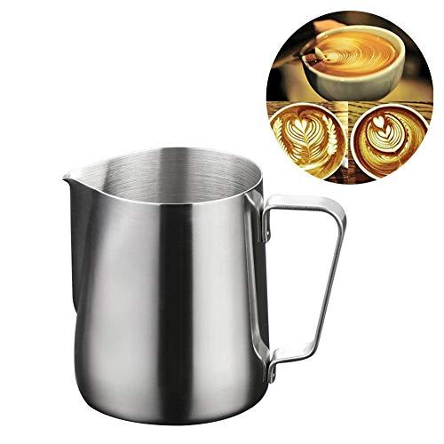 DaoRier Mini 100ml Milchkännchen Kaffee-Container Milchschaum Tasse Kapazität für Milchaufschäumer Craft Kaffee