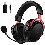 Mpow Air 2.4G Wireless Gaming Headset for PS4/PC Computer Headset with Dual Chamber
