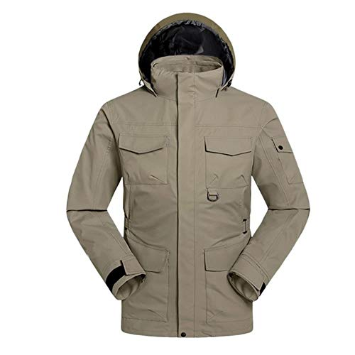 ERFHJ heren winter capuchon softshell winddicht waterdicht softshell jas