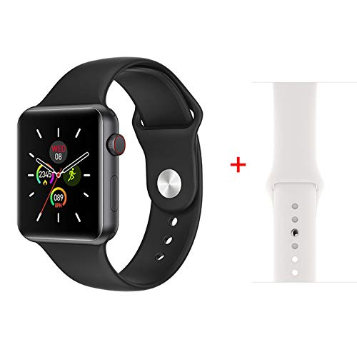 AAA&LIU Smart Watch Series 4 para Hombres y Mujeres Detección del Ritmo cardíaco Pronóstico de la presión Arterial para el Reloj Apple Android, Correa Extra Blanca,