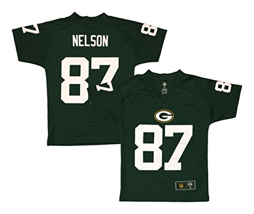 Jordy Nelson Green Bay Packers Green Performance Fashion Youth Jersey (X-Large 18)