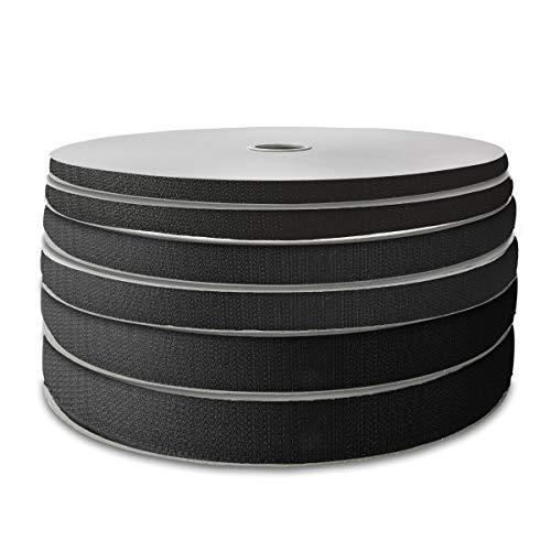 25 m Hakenband selbstklebend für Fliegengitter in schwarz 10 mm breit 154P20H