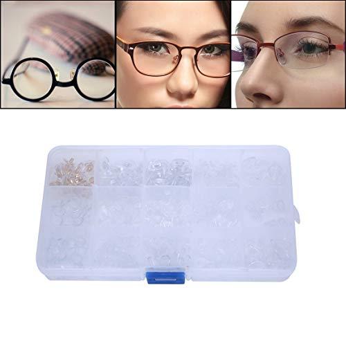 Almohadillas nasales adhesivas de silicona de 300 piezas, 15 estilos, fáciles de limpiar, almohadillas nasales antideslizantes, para gafas, gafas de sol y gafas,