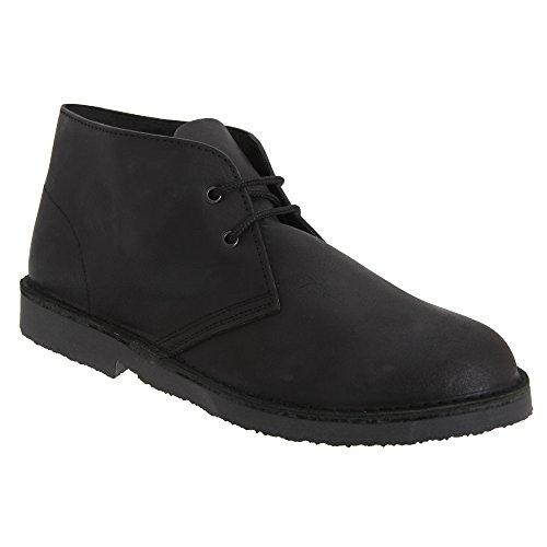 Roamers Unisex Schnürschuhe/Schnürhalbschuhe/Desert-Boots/Halbschuhe, Leder (47 EU) (Schwarz)