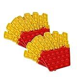 DBMGB 2 Pies Fries Press Toy, Pop Bubble Toys, Anti Ansiedad Sensory Silicone Fidget Juguetes, para Niños Adultos Autismo