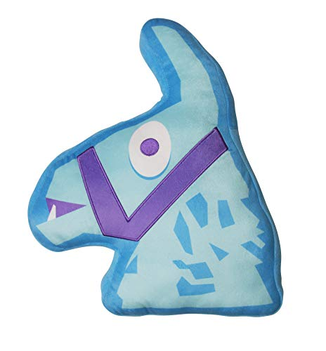 Character World Official Fortnite Shaped Llama Cushion Pillow | Officially Licensed Llama Plush Loot Classic Blue Design