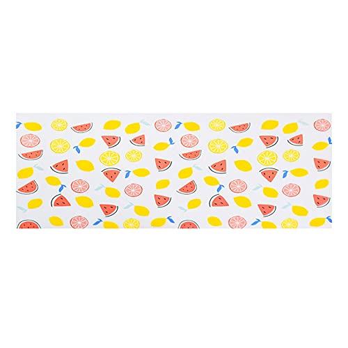 MISNODE 2 piezas forro para armario de cocina, cojín para marco de mesa, forro de armario antideslizante de 129,9 x 45 cm, amarillo