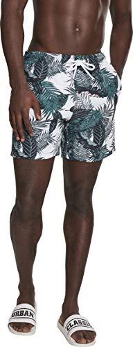 Urban Classics Pattern Swim Shorts, Multicolore (Palm Leaves 01681), Medium Homme