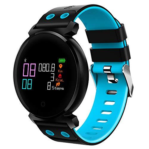 YAONING Bluetooth smartwatch, fitnesstracker, smart-armband, hartslag-zuurstof-bloeddrukmeter, waterdicht, voor iOS/Android D