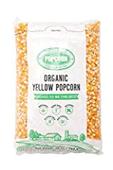 Preferred Popcorn Certified Organic Popcorn Kernels, 28 Ounce bag Pack of 3 Grown in the United States by experienced, certified organic popcorn farmers. Each 28 oz bag of kernels will pop up to 120 cups of popcorn - less than four pennies per cup of...