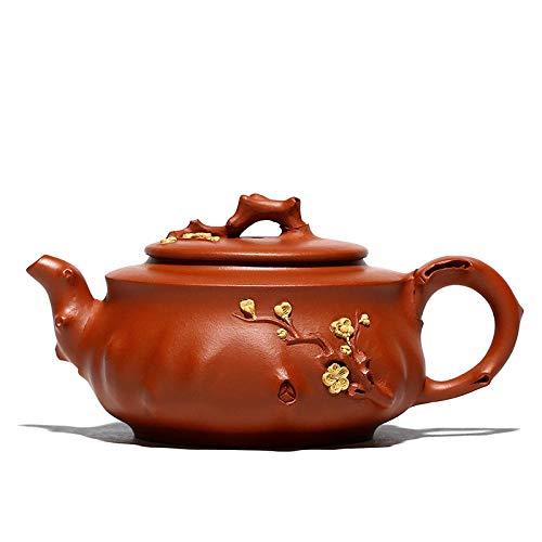 Zisha Teapot Plum Pile Purple Clay Teapot Handmade Tea Set Household Zhuni Teapot