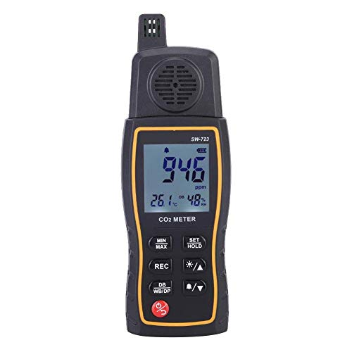 BXU-BG Multifunktionale Kohlendioxid-Detektor, Gas-Detektor Analyzer Alarm High Sensitivity-Monitor for die Schule Home Office Unternehmen Regierung