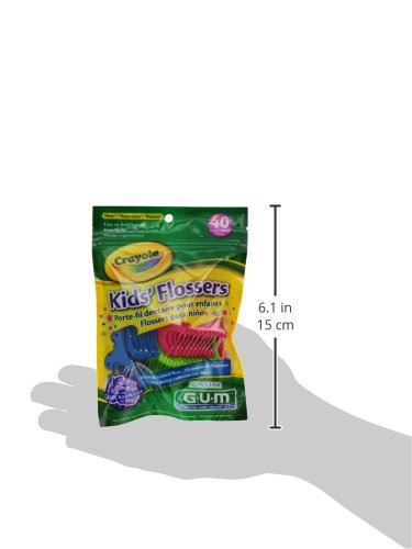 GUM®Crayola『Kids'Flossers40本入り』