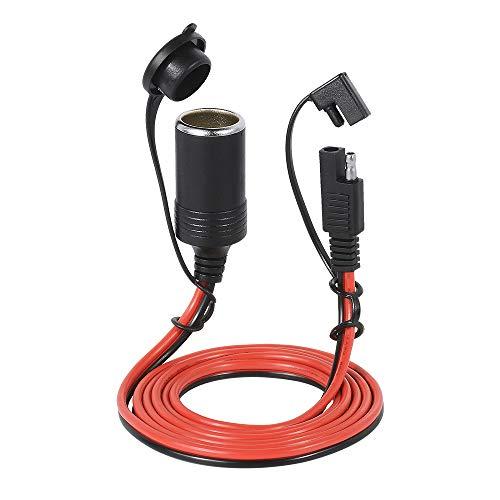 KKmoon 12-24V 20A SAE Zigarettenanzünder Auto Ladegerät Stecker 1,5 m Verlängerungskabel Wasserdicht 2 Pin Schnellverschluss Adapter mit Sicherung