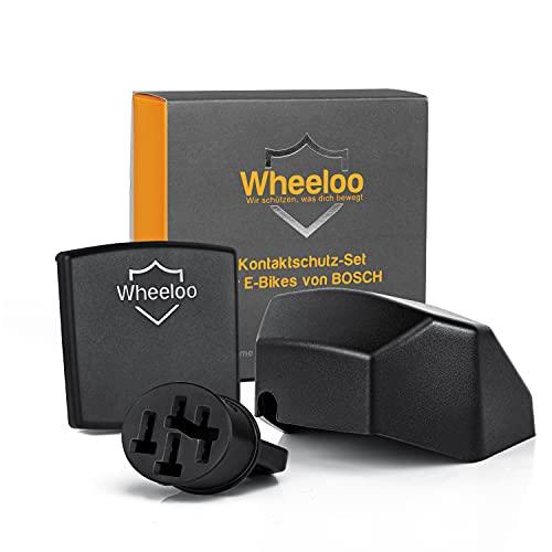 Wheeloo Kontaktschutz 3er Set für Bosch Intuvia + Nyon (bis 2020) | E-Bike Pin Abdeckung komplettes Zubehör Set zum Schutz der Kontakte an Akku, Display und Bedieneinheit