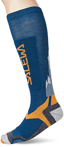 Salewa All Mountain VP Sock, Calzini Unisex-Adulto, Multicolore (Blue/Orange), 41/43