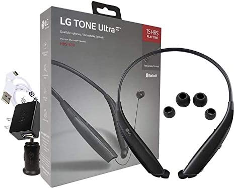 LG Tone Ultra HBS 830 Bluetooth Wireless Stereo Headset with Home Car Charger Retail Packing product image