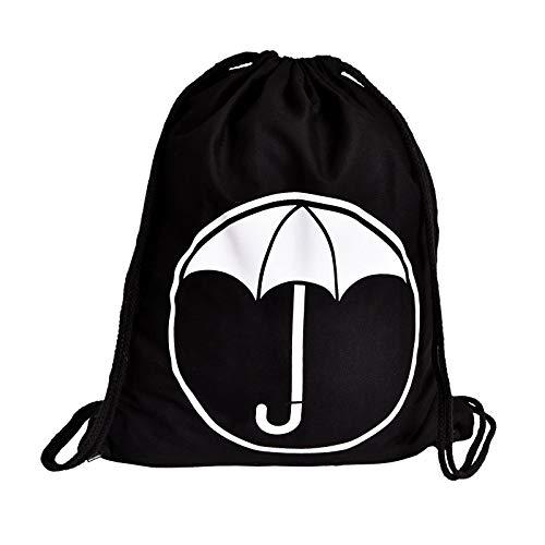 Elbenwald Estuche Deportivo con Logo para fanáticos de The Umbrella Academy 36x46cm algodón Negro