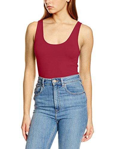 VERO MODA Damen VMMAXI My Soft UU Long Tank NOOS Top, Rot (Beet Red), 36 (Herstellergröße:S)