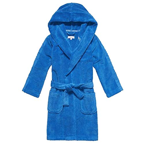 Calvin Klein Jungen Bademantel Blau blau Gr. Medium, blau