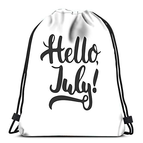 Randell Gym Drawstring Backpack Sport Bag Adventure Texts Pillows Home Decorations Lightweight Shoulder Bags Travel College Rucksack for Women Men