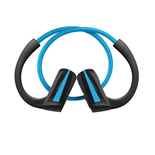 AQUYY Auriculares Inalámbricos Bluetooth Auricular Deportivos Correr con 16G Memoria, IPX5 Impermeable Reproductor de Música MP3 Liviano Auriculares Estéreo en la Oreja, 12H de Reproducción Blue