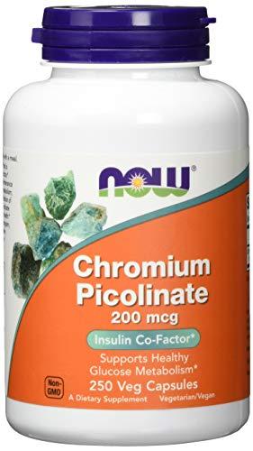 NOW 200mcg Picolinato de Cromo 250 Cápsulas 250 g