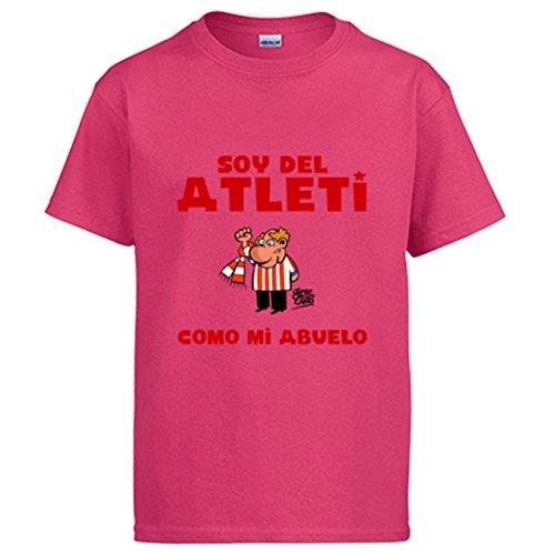 Diver Camisetas Camiseta Soy del Atleti como mi Abuelo ilustrado por Jorge Crespo Cano - Rosa, 5-6 años