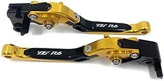 Color : Gold LIWENCUI Motorradhandgriffe Schutz Bremsen-Kupplungs-Hebel-Schutz-Schutz for Yamaha YZF R1 R3 R6 R15 R125 R25