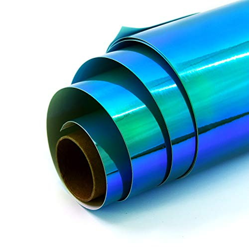Holographic Opal Vinyl roll 12' x 5ft,Permanent Vinyl,Permanen Adhesive,for All Kinds of Cutting Machines(Opal Green)