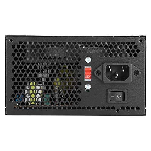 Ong Fuente de alimentación para PC, 115 / 230V Compact 400W Fuente de alimentación Profesional Ajustable para computadora para PC(Rosado)