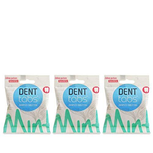 Denttabs 3 x 125 Stck. mit Fluorid ORIGINAL DENTTABS kompostierbare Beutel
