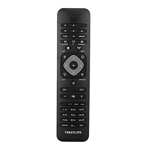 FOSA Mando a Distancia Universal VBESTLIFE para Smart TV Philips, Contro Remoto de Reemplazo para la Mayoría TV LCD, LED o Plasma de Philips