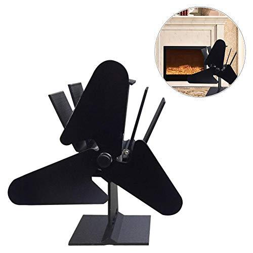 K-Park Hitze angetriebenes 3 Blatt-Ofen-Gebläse-Kamin-Holz-u. Protokoll-Brenner mit leiser Operation u. Wirkungsvoller Hitze-Zirkulations-Funktion für die Herstellung der Hauptwärme im Winter