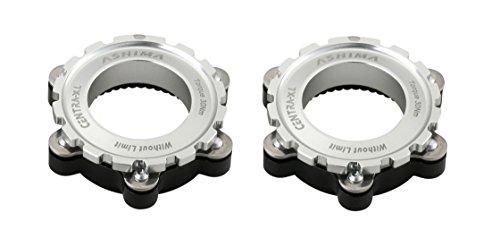 Ashima 2X Adapter für Shimano Centerlock auf is 6 Loch Bremsscheiben 12, 15 o 20mm Steckachse Silber