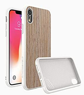 Protective Cover from RhinoShield solidsuit for iPhone XR,Light brown wood