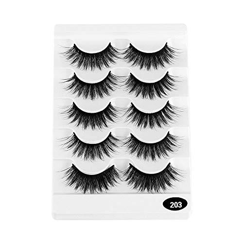 Pairs Werkzeuge zum Einbinden Natürliche Lange Wispy Flared Handarbeit Falsche Augenbrauen Erweiterung der Augenlast 6D Faux Mink Hair Querformat(03)