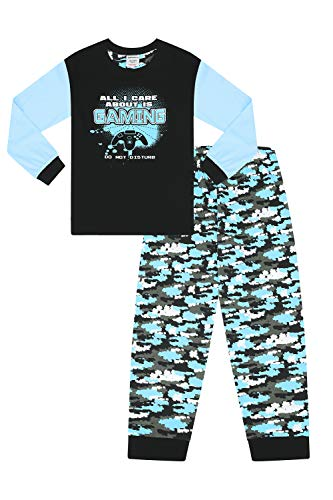Boys All I Care About is Gaming Blue Camouflage Pijamas