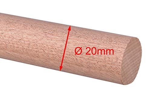 Rundstab Rundholz Sapeli Mahagoni Treppensprosse Durchmesser 15mm, 20mm, 25mm, 30mm (Ø 20mm)