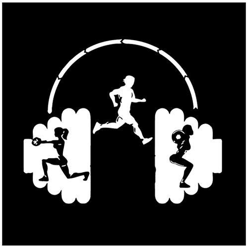 Stickers voor auto, sport, vinyl, om zelf te maken, voor ramen, bumper, laptop, koffer, skateboard, 16 x 13 cm (5 stuks)