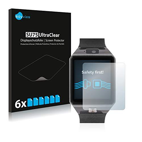 Savvies 6X Schutzfolie kompatibel mit Xlyne X-Watch X30W Displayschutz-Folie Ultra-transparent