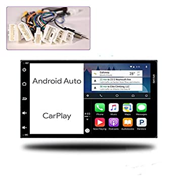 ViaBecs Android 10.0 Car Stereo with Bluetooth 5.0 Built-in Carplay for Toyota Tacoma Corolla 2016-2018 Sienna 2015-2018 Car Audio Head Unit 4G/64G DSP Support Handsfree Calling Google Maps SWC