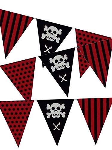 DISBACANAL Dreieckige Piraten Fahnen aus Kunststoff