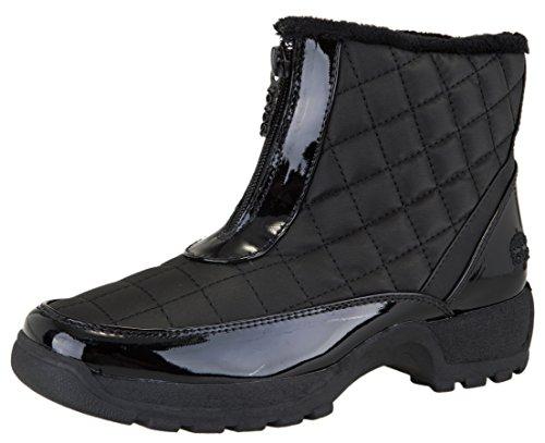 totes Women's Slope Waterproof Winter Snow Boot, Black, 8 M US