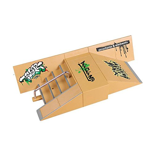 Gwxevce Skate Park Rampa Parts para Tech Deck Fingerboard Finger Board Ultimate Parks Nuevo