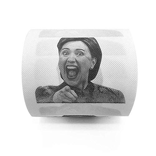 Laughing Hillary Clinton Toilet Paper, Novelty Gag Gift (1)